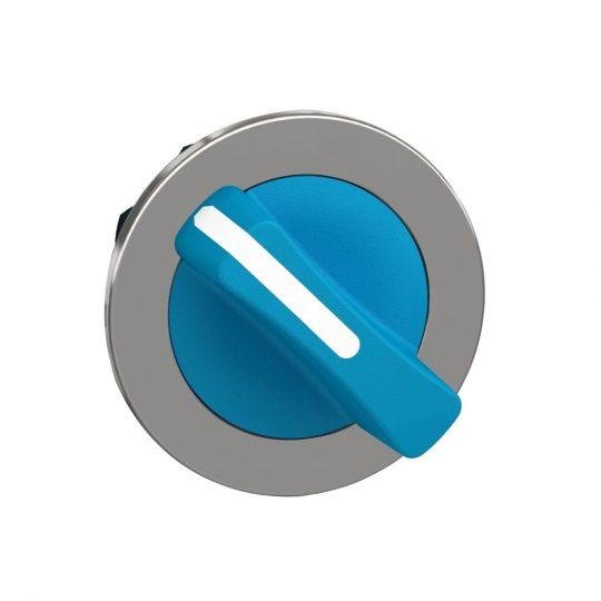 Schneider ZB4FD206 Harmony panelbe süllyesztett fém választókapcsoló fej, Ø30, 2 állású, kék