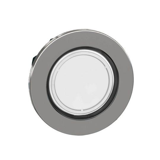 Schneider ZB4FH013 Harmony panelbe süllyesztett fém világító nyomógomb fej, Ø30, fehér, nyomó-nyomó
