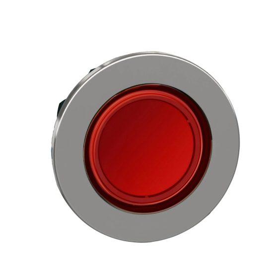 Schneider ZB4FH043 Harmony panelbe süllyesztett fém világító nyomógomb fej, Ø30, piros, nyomó-nyomó