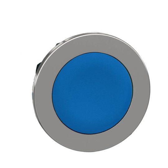 Schneider ZB4FH06 Harmony panelbe süllyesztett fém nyomógomb fej, Ø30, kék, nyomó-nyomó