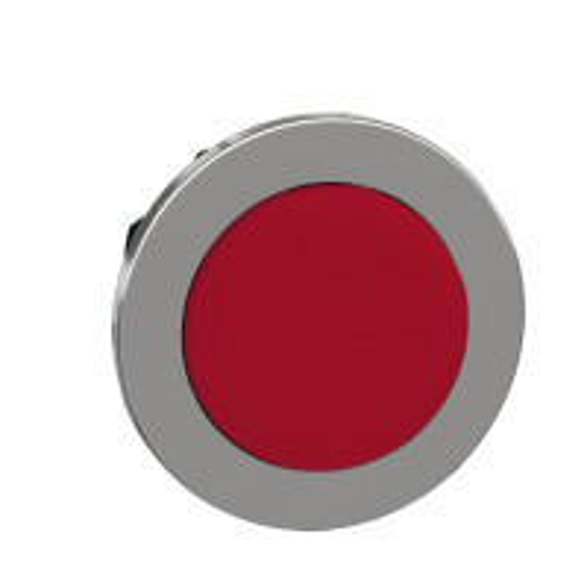 Schneider ZB4FH4 Harmony panelbe süllyesztett fém nyomógomb fej, Ø30, kiemelkedő, piros, nyomó-nyomó