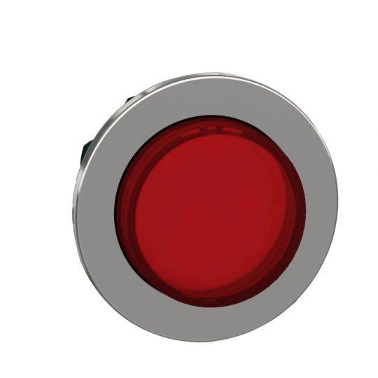 Schneider ZB4FH43 Harmony panelbe süllyesztett fém világító nyomógomb fej, Ø30, kiemelkedő, piros, nyomó-nyomó