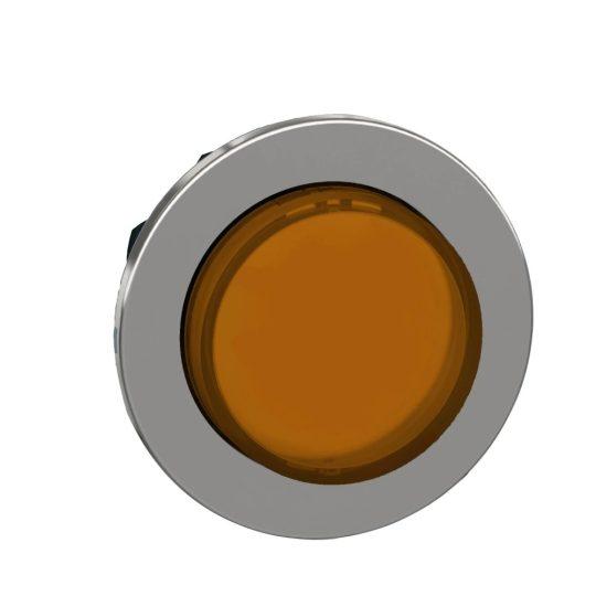 Schneider ZB4FH53 Harmony panelbe süllyesztett fém világító nyomógomb fej, Ø30, kiemelkedő, narancssárga, nyomó-nyomó