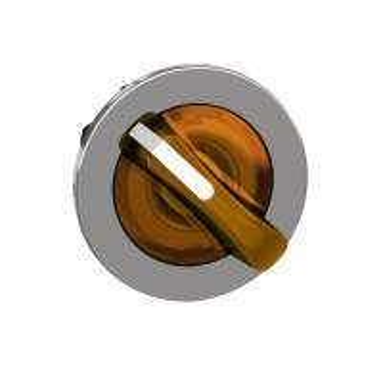Schneider ZB4FK1253 Harmony panelbe süllyesztett fém világító választókapcsoló fej, Ø30, 2 állású, narancssárga