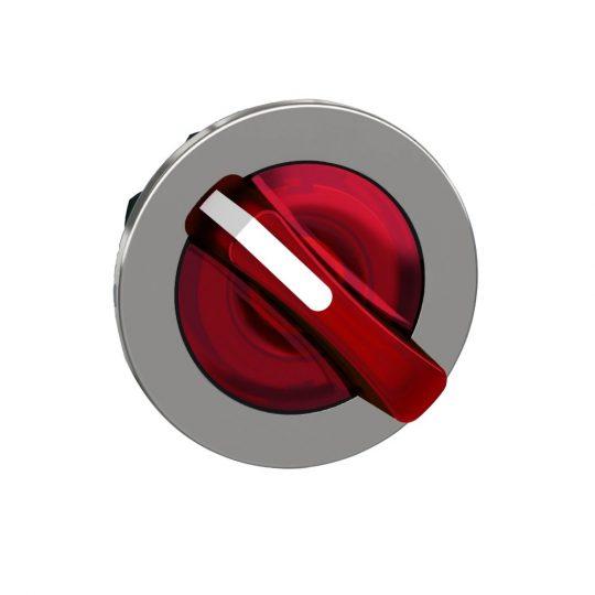 Schneider ZB4FK1443 Harmony panelbe süllyesztett fém világító választókapcsoló fej, Ø30, 2 állású, piros, jobbról visszatérő