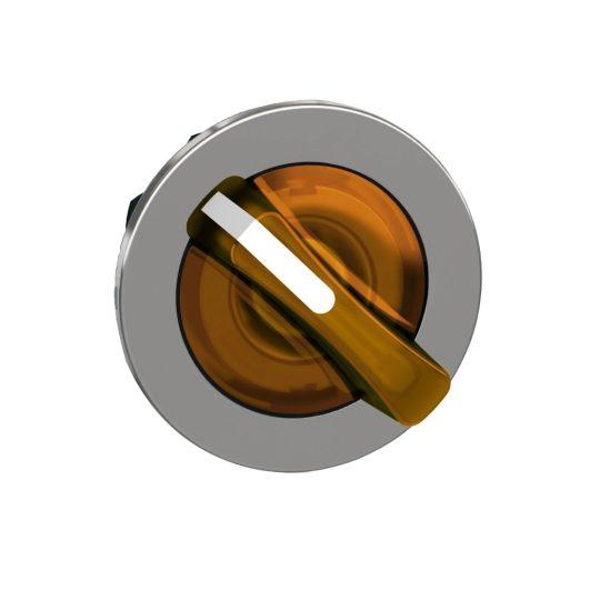 Schneider ZB4FK1453 Harmony panelbe süllyesztett fém világító választókapcsoló fej, Ø30, 2 állású, narancs, jobbról visszatérő