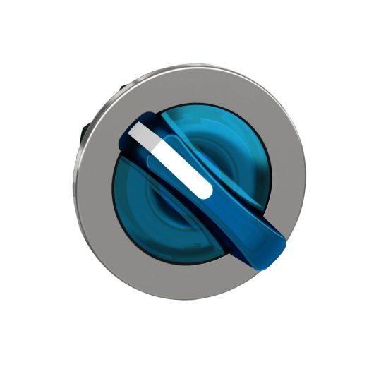 Schneider ZB4FK1463 Harmony panelbe süllyesztett fém világító választókapcsoló fej, Ø30, 2 áll., kék, jobbról visszatérő