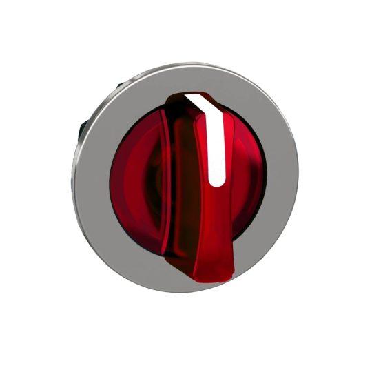 Schneider ZB4FK1543 Harmony panelbe süllyesztett fém világító választókapcsoló fej, Ø30, 3 állású, piros, középre visszatérő