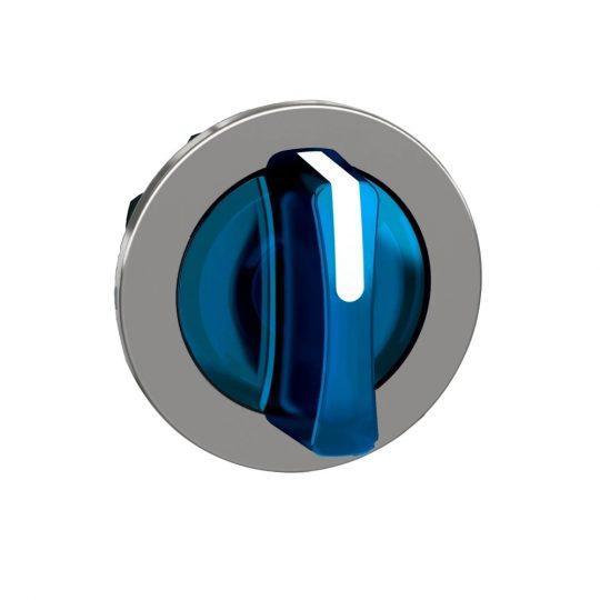 Schneider ZB4FK1563 Harmony panelbe süllyesztett fém világító választókapcsoló fej, Ø30, 3 állású, kék, közép visszatérő