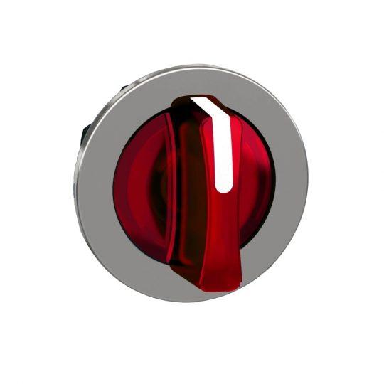 Schneider ZB4FK1743 Harmony panelbe süllyesztett fém világító választókapcsoló fej, Ø30, 3 állású, piros, balról középre visszatérő