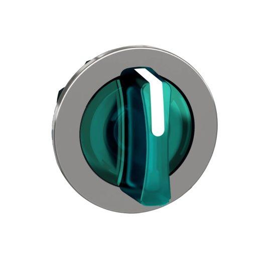 Schneider ZB4FK1833 Harmony panelbe süllyesztett fém világító választókapcsoló fej, Ø30, 3 állású, zöld, jobbról középre visszatérő