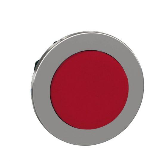 Schneider ZB4FL4 Harmony panelbe süllyesztett fém nyomógomb fej, Ø30, kiemelkedő, piros, visszatérő