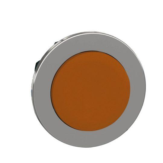 Schneider ZB4FL5 Harmony panelbe süllyesztett fém nyomógomb fej, Ø30, kiemelkedő, sárga, visszatérő