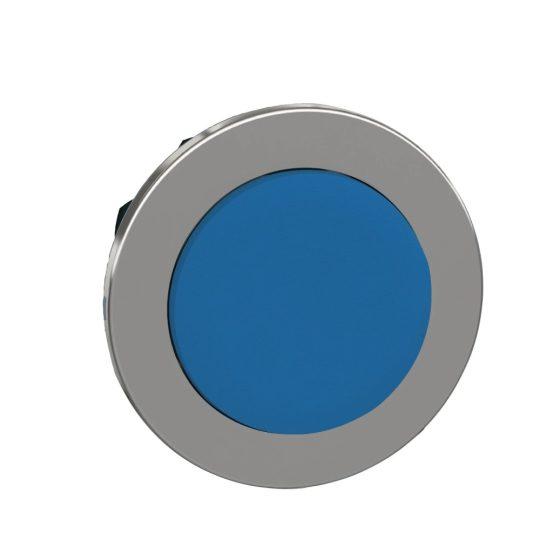 Schneider ZB4FL6 Harmony panelbe süllyesztett fém nyomógomb fej, Ø30, kiemelkedő, kék, visszatérő