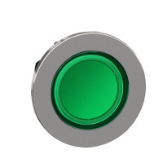 Schneider ZB4FV033 Harmony panelbe süllyesztett fém LED jelzőlámpa fej, Ø30, zöld
