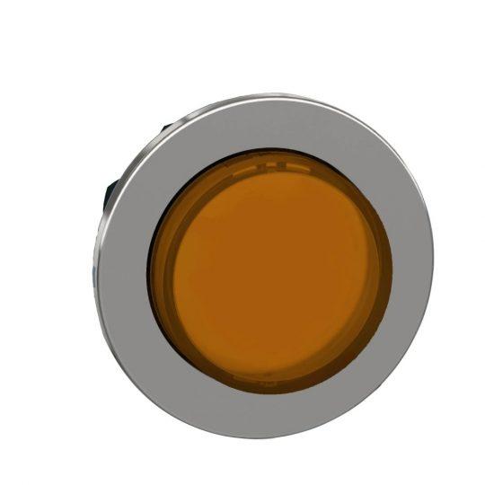 Schneider ZB4FW153 Harmony panelbe süllyesztett fém világító nyomógomb fej, Ø30, kiemelkedő, narancssárga