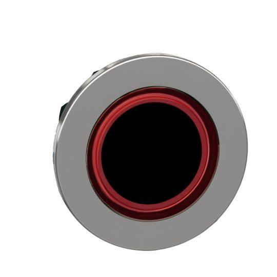 Schneider ZB4FW943 Harmony panelbe süllyesztett fém világító nyomógomb fej, Ø30, visszatérő, piros, világító perem