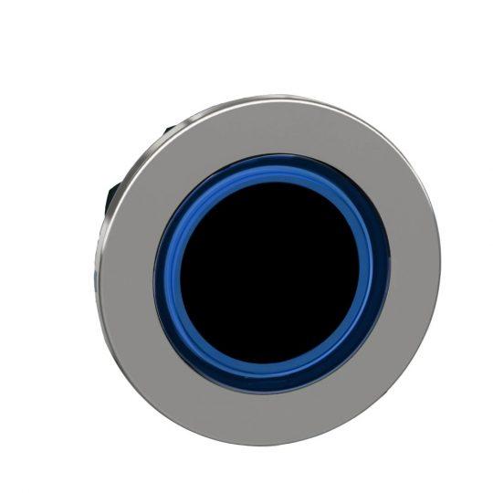 Schneider ZB4FW963 Harmony panelbe süllyesztett fém világító nyomógomb fej, Ø30, visszatérő, kék, világító perem