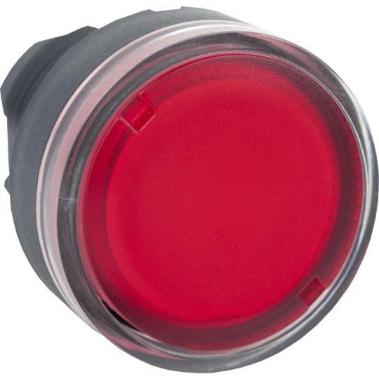 Schneider ZB5AW34 Harmony műanyag világító nyomógomb fej, Ø22, visszatérő, BA9s izzóhoz, piros