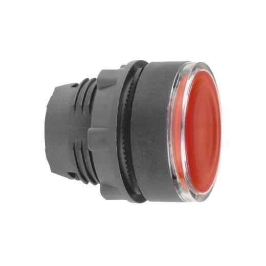 Schneider ZB5AW343TQ Harmony műanyag világító nyomógomb fej, Ø22, visszatérő, beépített LED-hez, piros 100 darabos csomagban