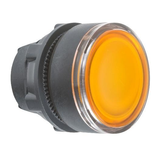 Schneider ZB5AW353TQ Harmony műanyag világító nyomógomb fej, Ø22, visszatérő, beépített LED-hez, narancssárga 100 darabos csomagban