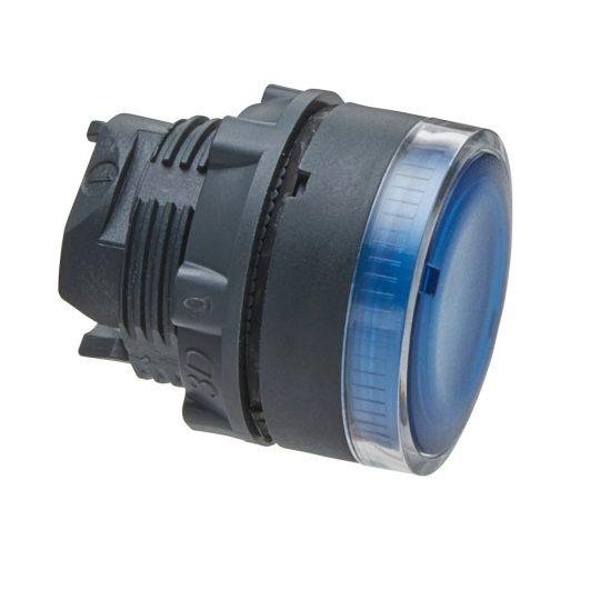Schneider ZB5AW36 Harmony műanyag világító nyomógomb fej, Ø22, visszatérő, BA9s izzóhoz, kék