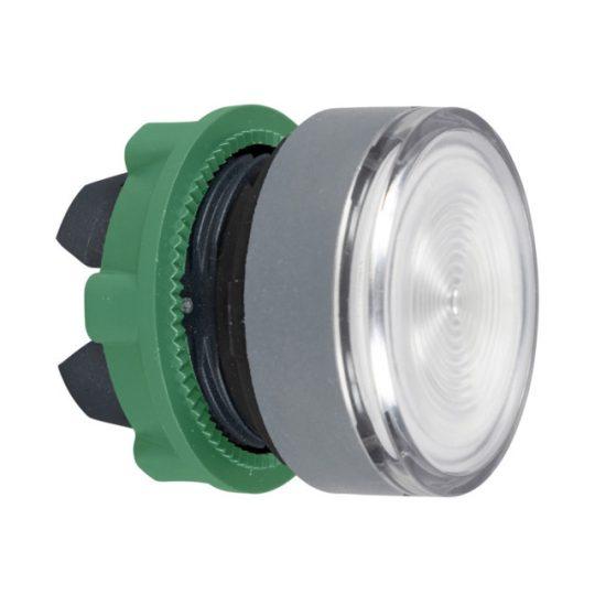Schneider ZB5AW37C0 Harmony műanyag világító nyomógomb fej, Ø22, visszatérő, BA9s izzóhoz, színtelen, szürke perem