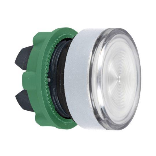 Schneider ZB5AW37C1 Harmony műanyag világító nyomógomb fej, Ø22, visszatérő, BA9s izzóhoz, színtelen, fehér perem