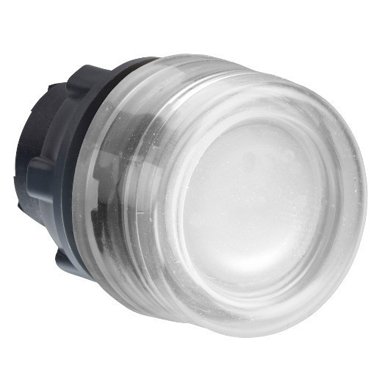 Schneider ZB5AW513 Harmony műanyag világító nyomógomb fej, Ø22, visszatérő, védősapkás, beépített LED-hez, fehér