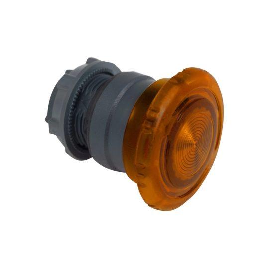 Schneider ZB5AW753 Harmony műanyag világító nyomógomb fej, Ø22, forgatásra kioldó, Ø40 gombafejű, beépített LED-hez, narancssárga