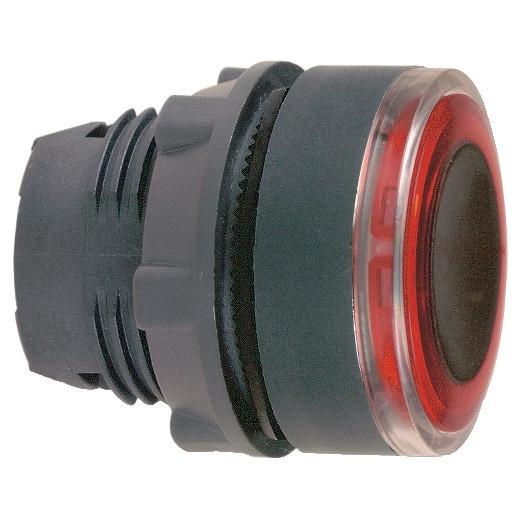 Schneider ZB5AW943 Harmony műanyag világító nyomógomb fej, Ø22, visszatérő, pirosan világító perem