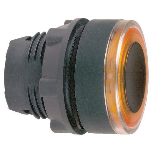 Schneider ZB5AW953 Harmony műanyag világító nyomógomb fej, Ø22, visszatérő, narancssárgán világító perem
