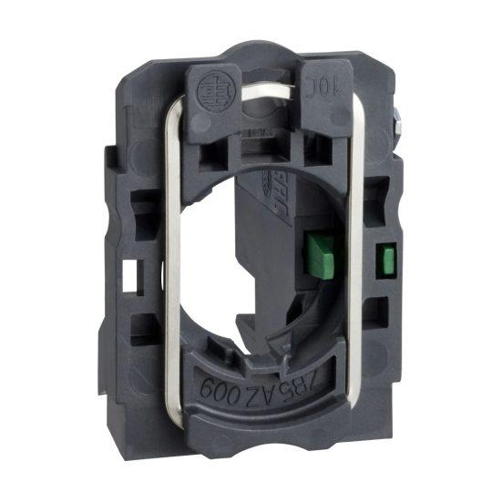 Schneider ZB5AZ1014 Harmony műanyag rögzítőaljzat és érintkezőblokk, 1NO, dugaszolós csatlakozós