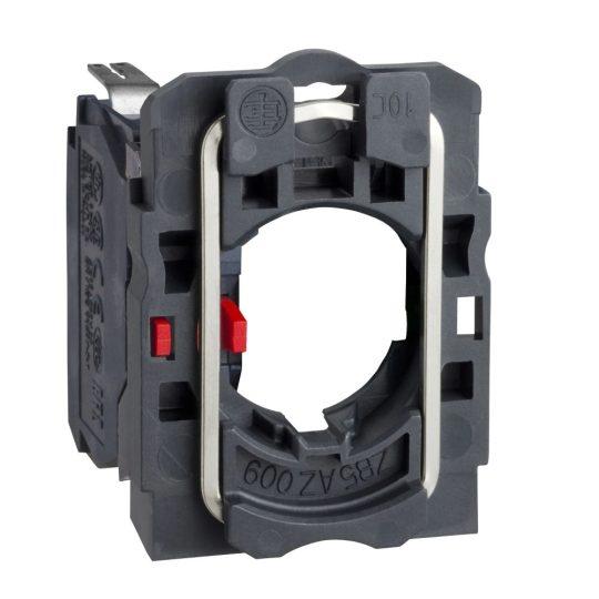 Schneider ZB5AZ1023 Harmony műanyag rögzítőaljzat és érintkezőblokk, 1NC, faston csatlakozós