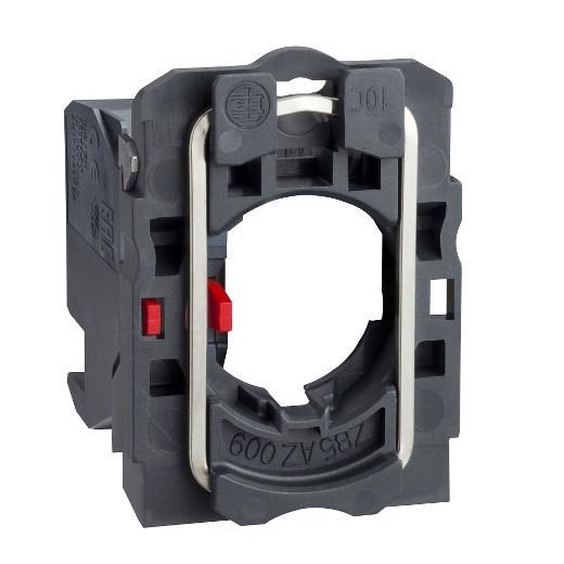 Schneider ZB5AZ1024 Harmony műanyag rögzítőaljzat és érintkezőblokk, 1NC, dugaszolós csatlakozós