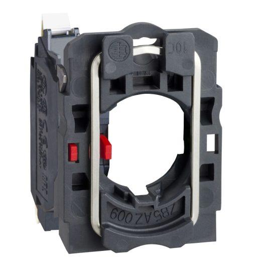 Schneider ZB5AZ1025 Harmony műanyag rögzítőaljzat és érintkezőblokk, 1NC, rugós csatlakozós