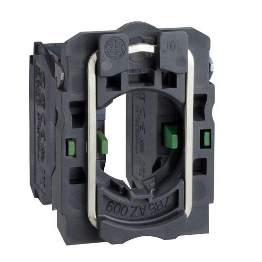 Schneider ZB5AZ103 Harmony műanyag rögzítőaljzat és érintkezőblokk, 2NO