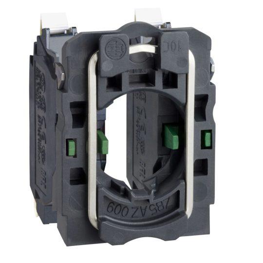Schneider ZB5AZ1033 Harmony műanyag rögzítőaljzat és érintkezőblokk, 2NO, faston csatlakozós