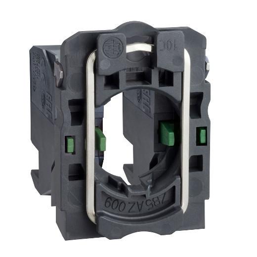 Schneider ZB5AZ1034 Harmony műanyag rögzítőaljzat és érintkezőblokk, 2NO, dugaszolós csatlakozós
