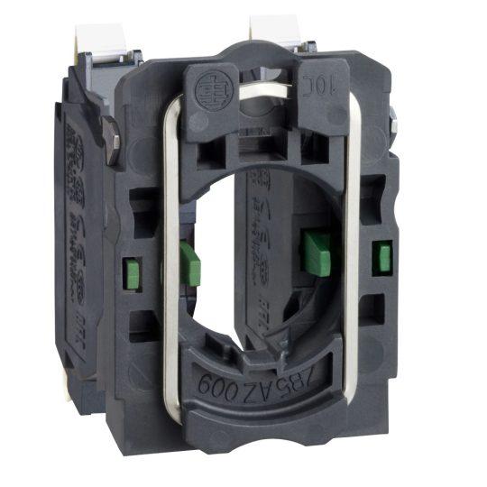 Schneider ZB5AZ1035 Harmony műanyag rögzítőaljzat és érintkezőblokk, 2NO, rugós csatlakozós
