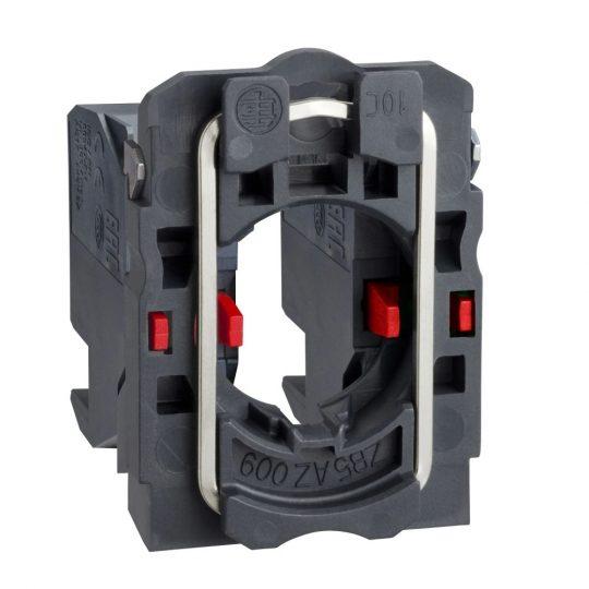 Schneider ZB5AZ1044 Harmony műanyag rögzítőaljzat és érintkezőblokk, 2NC, dugaszolós csatlakozós