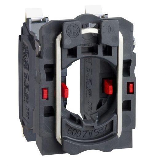 Schneider ZB5AZ1045 Harmony műanyag rögzítőaljzat és érintkezőblokk, 2NC, rugós csatlakozós