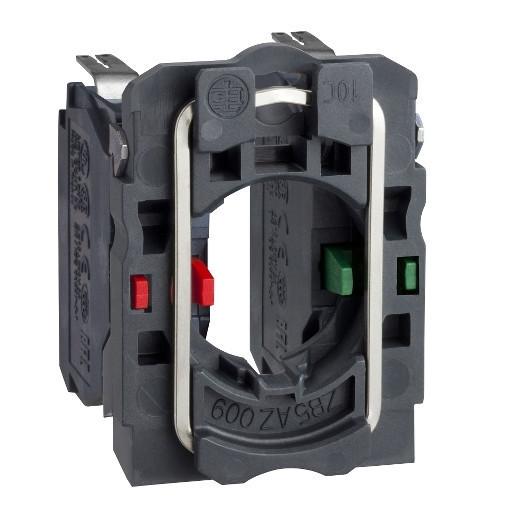 Schneider ZB5AZ1053 Harmony műanyag rögzítőaljzat és érintkezőblokk, 1NO+1NC, faston csatlakozós