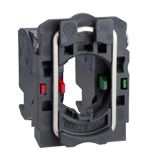 Schneider ZB5AZ1054 Harmony műanyag rögzítőaljzat és érintkezőblokk, 1NO+1NC, dugaszolós csatlakozós