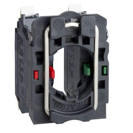 Schneider ZB5AZ1055 Harmony műanyag rögzítőaljzat és érintkezőblokk, 1NO+1NC, rugós csatlakozós