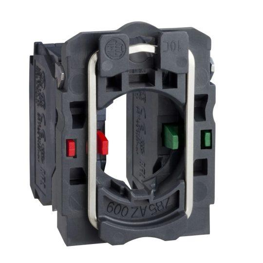 Schneider ZB5AZ106 Harmony műanyag rögzítőaljzat és érintkezőblokk, 1NO+1NC átlapolt