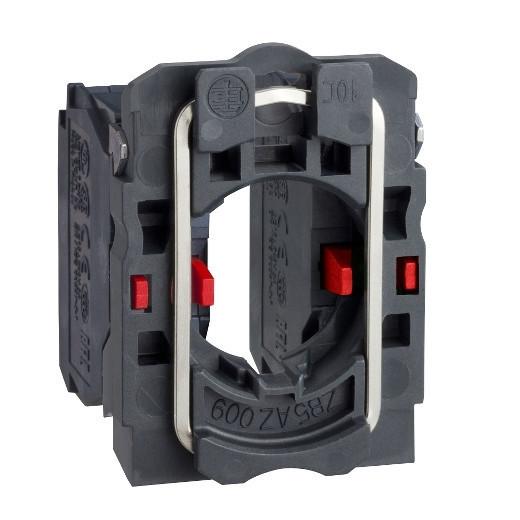 Schneider ZB5AZ107 Harmony műanyag rögzítőaljzat és érintkezőblokk, 2NC sorrendi