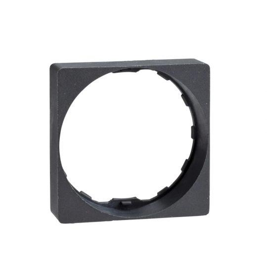 Schneider ZB5AZ31 Harmony műanyag négyszög alakú keret, Ø22 működtető és jelzőkészülékekhez, fekete