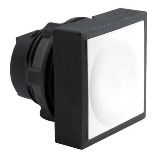 Schneider ZB5CA1 Harmony műanyag négyszög alakú nyomógomb fej, Ø22, visszatérő, fehér