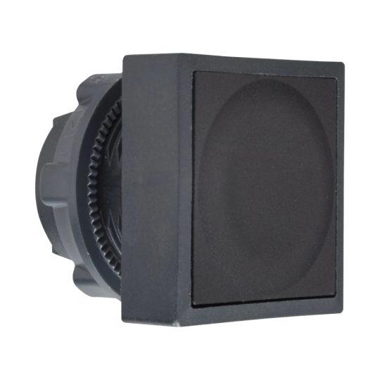 Schneider ZB5CA2 Harmony műanyag négyszög alakú nyomógomb fej, Ø22, visszatérő, fekete